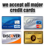 We Accept Visa MasterCard Discover and American Express in 92023